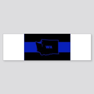 Thin Blue Line - Washington State Bumper Sticker