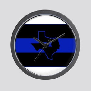 Thin Blue Line - Texas Wall Clock
