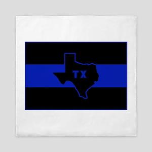 Thin Blue Line - Texas Queen Duvet