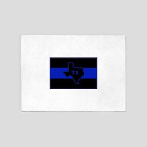 Thin Blue Line - Texas 5'x7'Area Rug