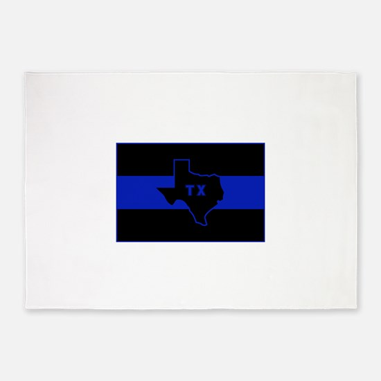 Thin Blue Line - Texas 5'x7'Area Rug