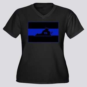 Thin Blue Line - Virginia Plus Size T-Shirt