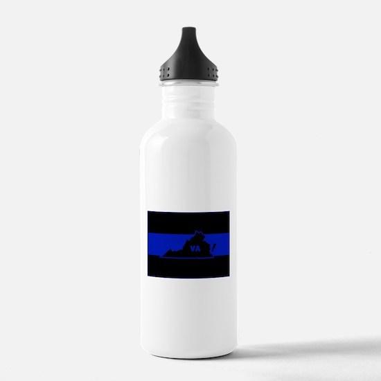 Thin Blue Line - Virgi Sports Water Bottle