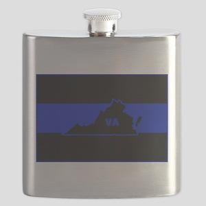Thin Blue Line - Virginia Flask