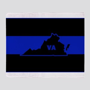 Thin Blue Line - Virginia Throw Blanket