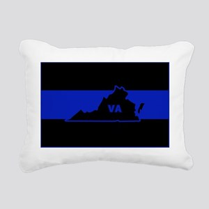 Thin Blue Line - Virgini Rectangular Canvas Pillow