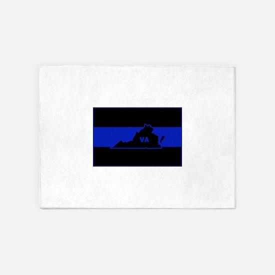 Thin Blue Line - Virginia 5'x7'Area Rug
