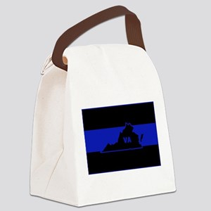 Thin Blue Line - Virginia Canvas Lunch Bag