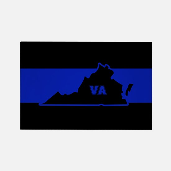 Thin Blue Line - Virginia Magnets