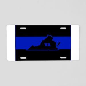 Thin Blue Line - Virginia Aluminum License Plate