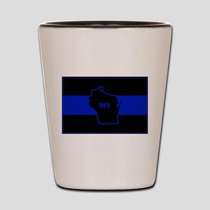Thin Blue Line - Wisconsin Shot Glass
