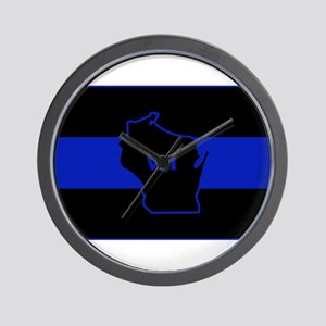 Thin Blue Line - Wisconsin Wall Clock