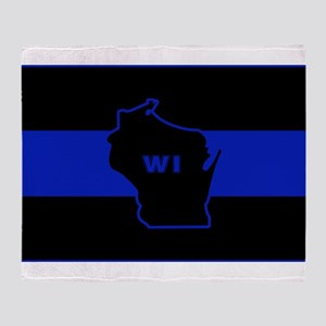 Thin Blue Line - Wisconsin Throw Blanket