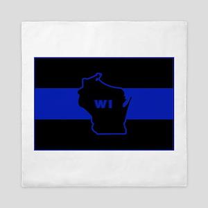 Thin Blue Line - Wisconsin Queen Duvet