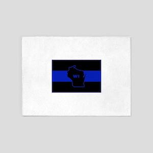 Thin Blue Line - Wisconsin 5'x7'Area Rug