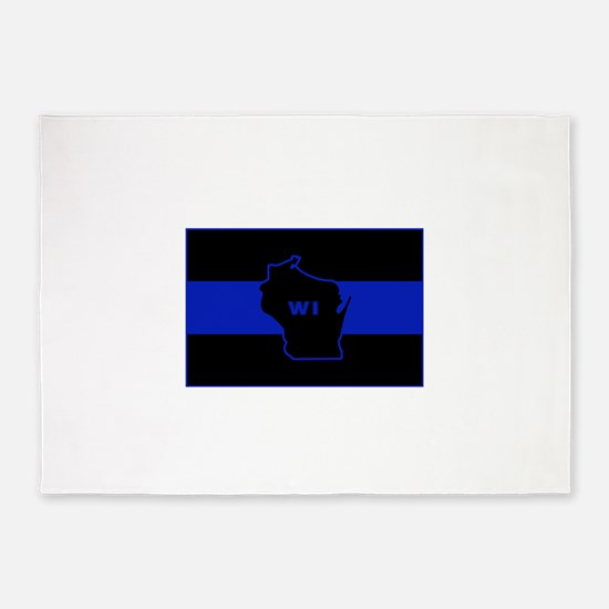 Thin Blue Line - Wisconsin 5'x7'Area Rug