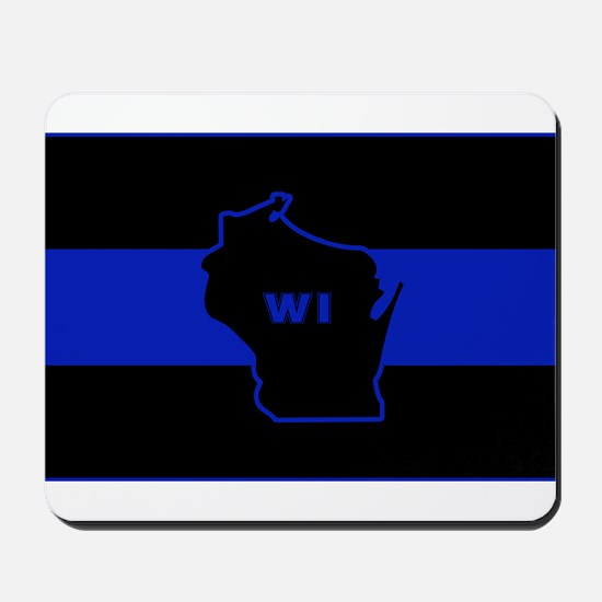 Thin Blue Line - Wisconsin Mousepad