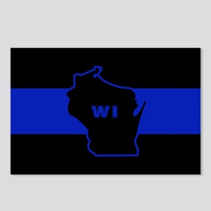 Thin Blue Line - Wisconsi Postcards (Package of 8)