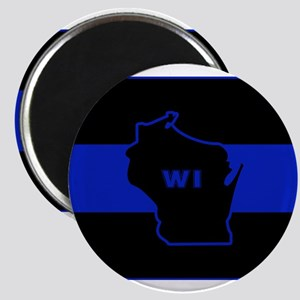 Thin Blue Line - Wisconsin Magnets