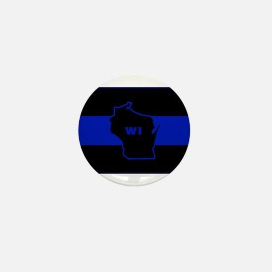 Thin Blue Line - Wisconsin Mini Button