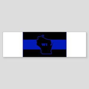 Thin Blue Line - Wisconsin Bumper Sticker