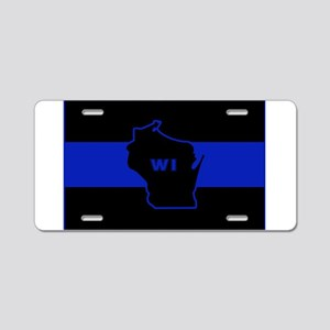 Thin Blue Line - Wisconsin Aluminum License Plate