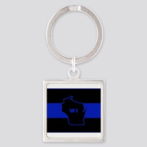 Thin Blue Line - Wisconsin Keychains