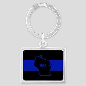 Thin Blue Line - Wisconsin Keychains