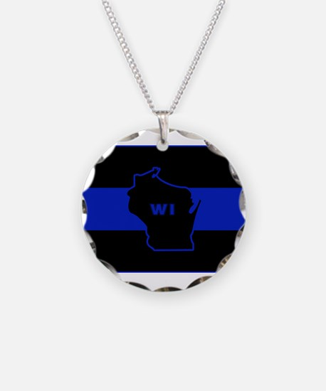 Thin Blue Line - Wisconsin Necklace