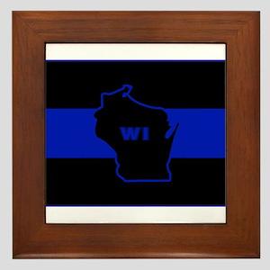 Thin Blue Line - Wisconsin Framed Tile
