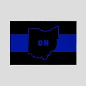 Thin Blue Line - Ohio Magnets