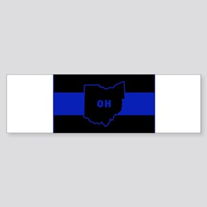 Thin Blue Line - Ohio Bumper Sticker