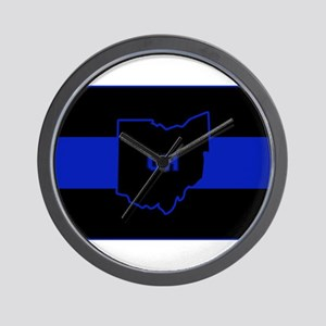 Thin Blue Line - Ohio Wall Clock