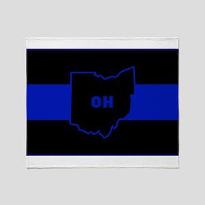 Thin Blue Line - Ohio Throw Blanket