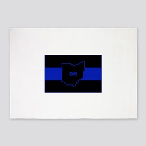 Thin Blue Line - Ohio 5'x7'Area Rug