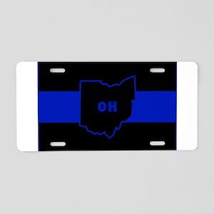 Thin Blue Line - Ohio Aluminum License Plate