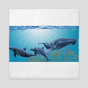 Humpback & Dolphins Queen Duvet