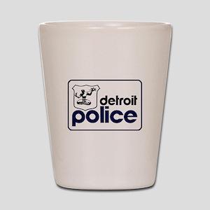 Old Detroit Police Logo Shot Glass