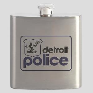 Old Detroit Police Logo Flask