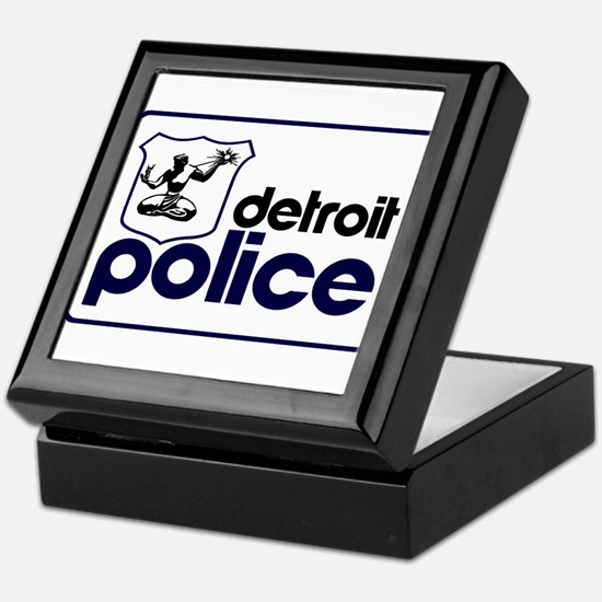 Old Detroit Police Logo Keepsake Box