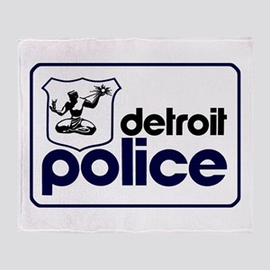 Old Detroit Police Logo Throw Blanket