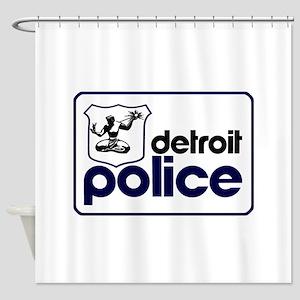 Old Detroit Police Logo Shower Curtain