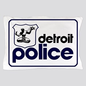 Old Detroit Police Logo Pillow Case