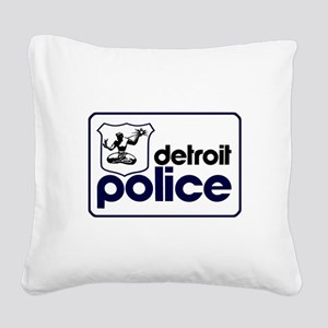 Old Detroit Police Logo Square Canvas Pillow