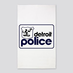 Old Detroit Police Logo Area Rug