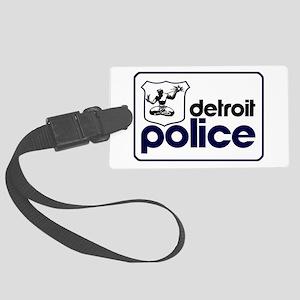 Old Detroit Police Logo Large Luggage Tag