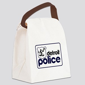 Old Detroit Police Logo Canvas Lunch Bag