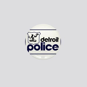 Old Detroit Police Logo Mini Button