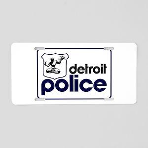 Old Detroit Police Logo Aluminum License Plate