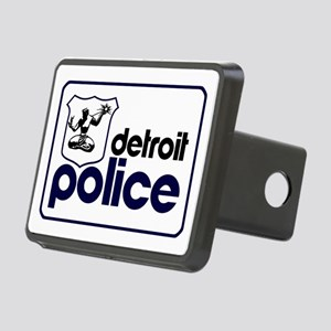 Old Detroit Police Logo Rectangular Hitch Cover